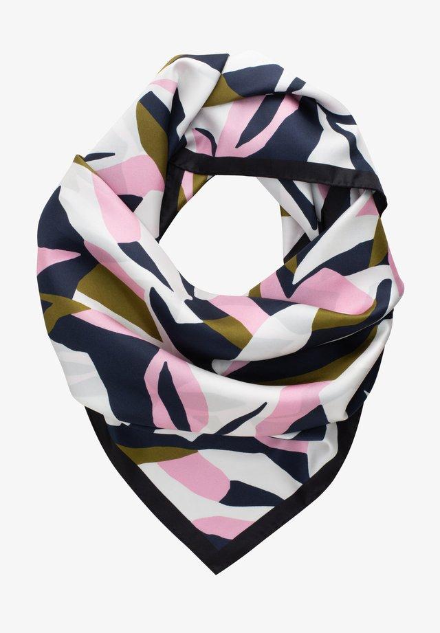 Foulard - rosa/marine/oliv