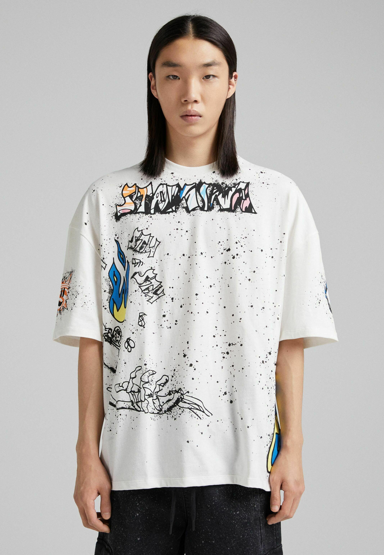 Herren IM EXTRA-LOOSE-FIT MIT GRAFFITI- - T-Shirt print