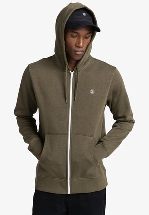 CORNELL CLASSIC - Zip-up sweatshirt - army