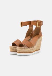 See by Chloé - GLYN - Korkeakorkoiset sandaalit - tan - 2