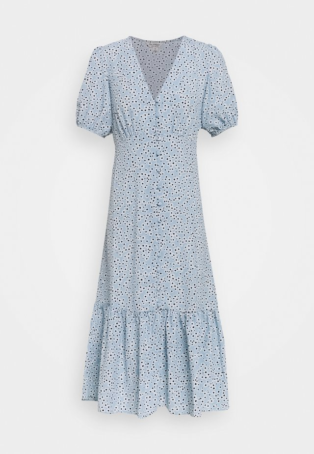 FLORAL DRESS - Day dress - blue