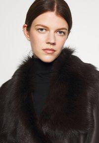 STUDIO ID - FLO COAT - Leather jacket - chocolate - 4