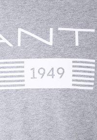 GANT - STRIPES - Print T-shirt - grey melange - 2