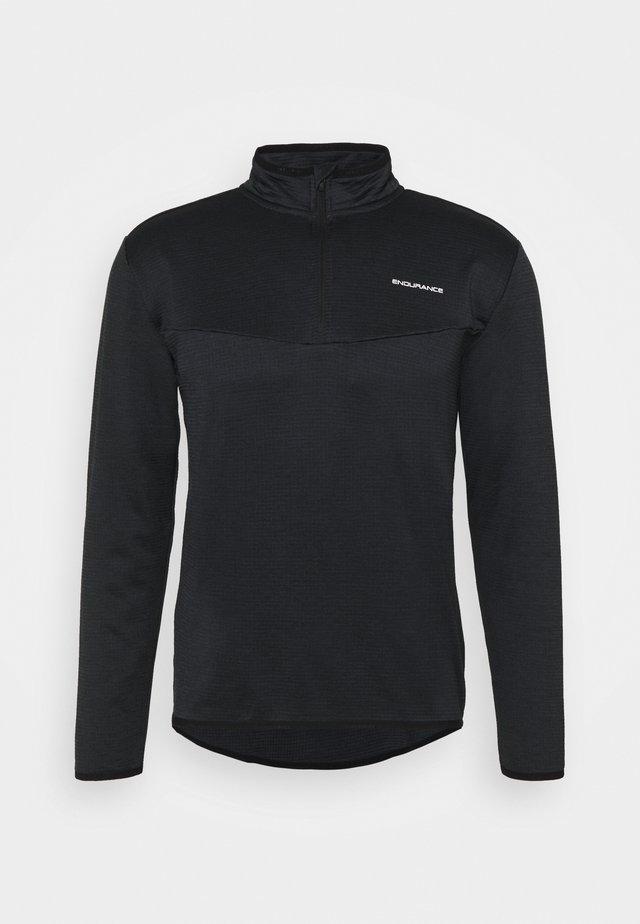 LEDGER WAFFLE MIDLAYER - Sweatshirts - black