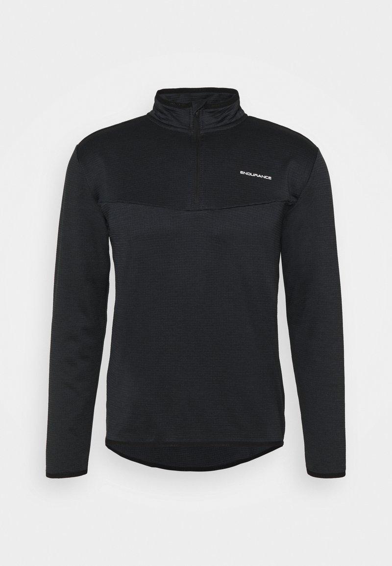 Endurance - LEDGER WAFFLE MIDLAYER - Sweatshirt - black