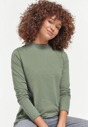 HIGH NECK - Long sleeved top - khaki