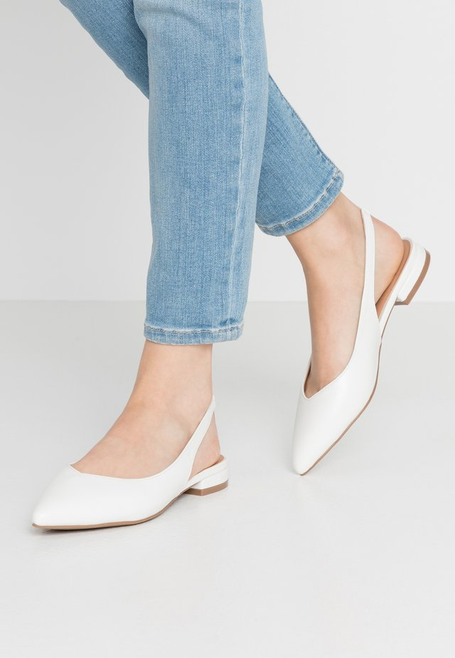 BAY - Slingback ballet pumps - white