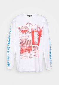 NEW girl ORDER - RAVE FLYER LONG SLEEVE TOP - Bluzka z długim rękawem - white - 4