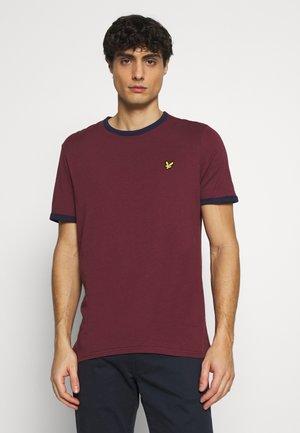 RINGER  - T-shirt basic - merlot/navy