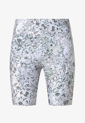 FLORAL PRINT CYCLE SHORTS - Sports shorts - white