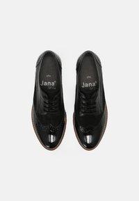 Jana - Lace-ups - black structur - 5