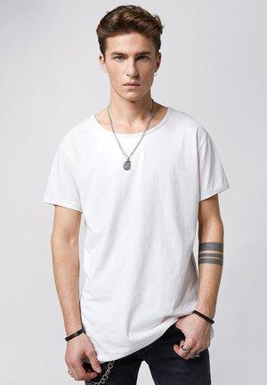 VITO SLUB - Basic T-shirt - powder white