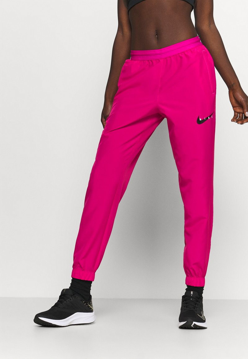 Nike Performance - RUN PANT - Pantalon de survêtement - fireberry/arctic punch/black
