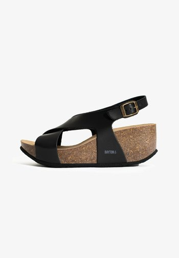 REA - Platform sandals - black