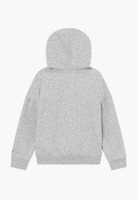 ASICS - BIG HOODIE - Jersey con capucha - mid grey heather/diva pink - 1