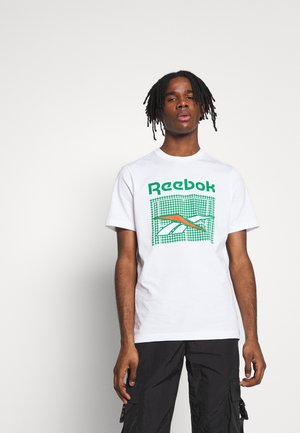 TENNIS COURT TEE - Camiseta estampada - white