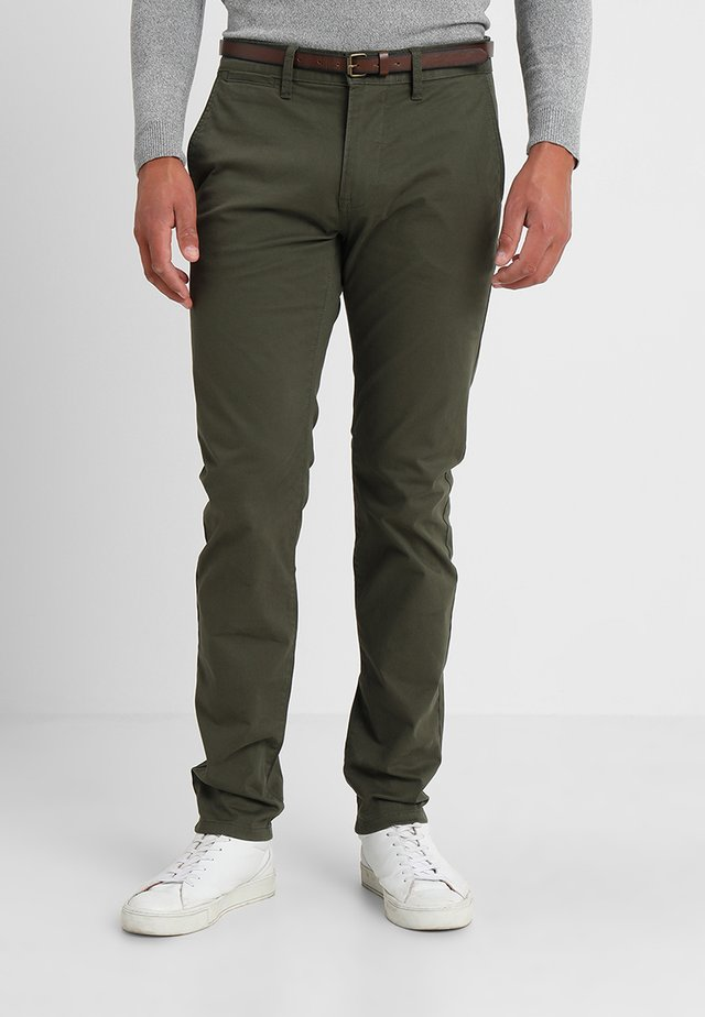 ESSENTIAL  - Trousers - deep forest green