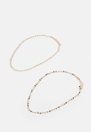 PCPEARLIA NECKLACE 2 PACK - Smykke - gold-coloured/blue