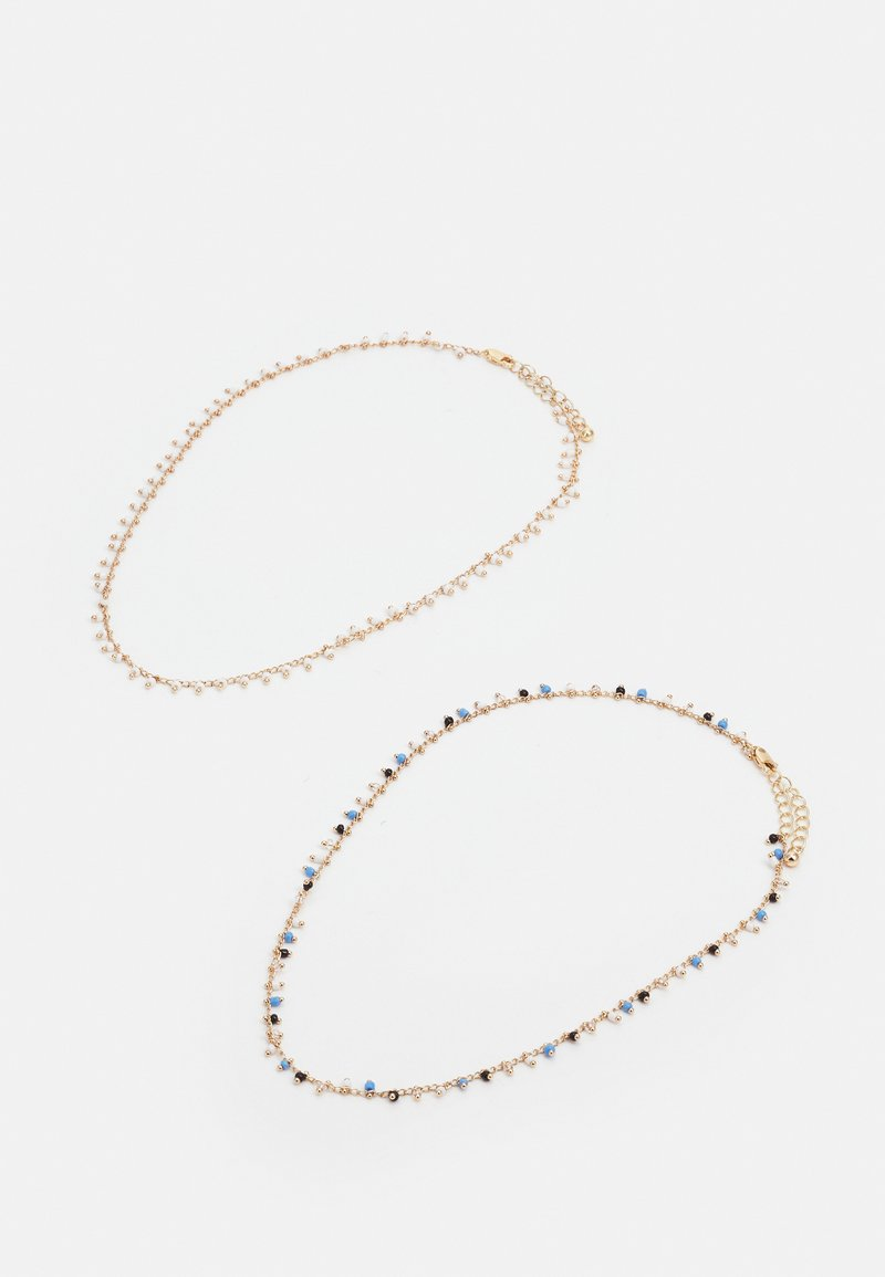 Pieces - PCPEARLIA NECKLACE 2 PACK - Necklace - gold-coloured/blue