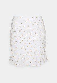 Hollister Co. - CINCH SKIRT - Mini skirts  - white - 0