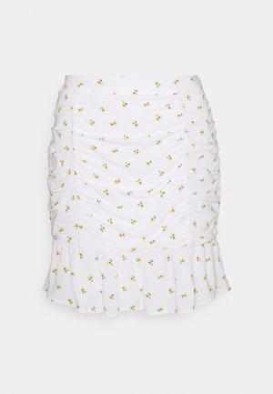 CINCH SKIRT - Mini skirts  - white