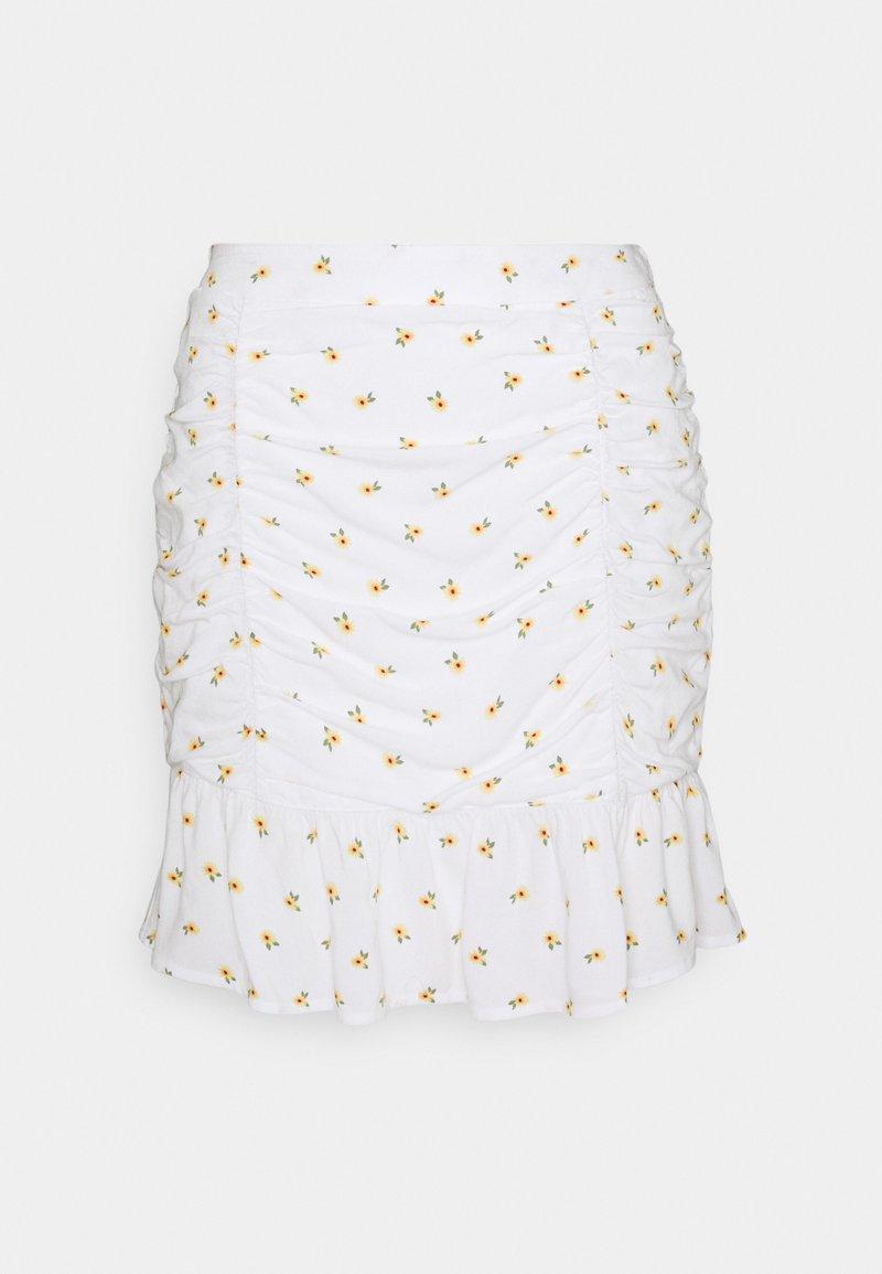 Hollister Co. - CINCH SKIRT - Mini skirts  - white