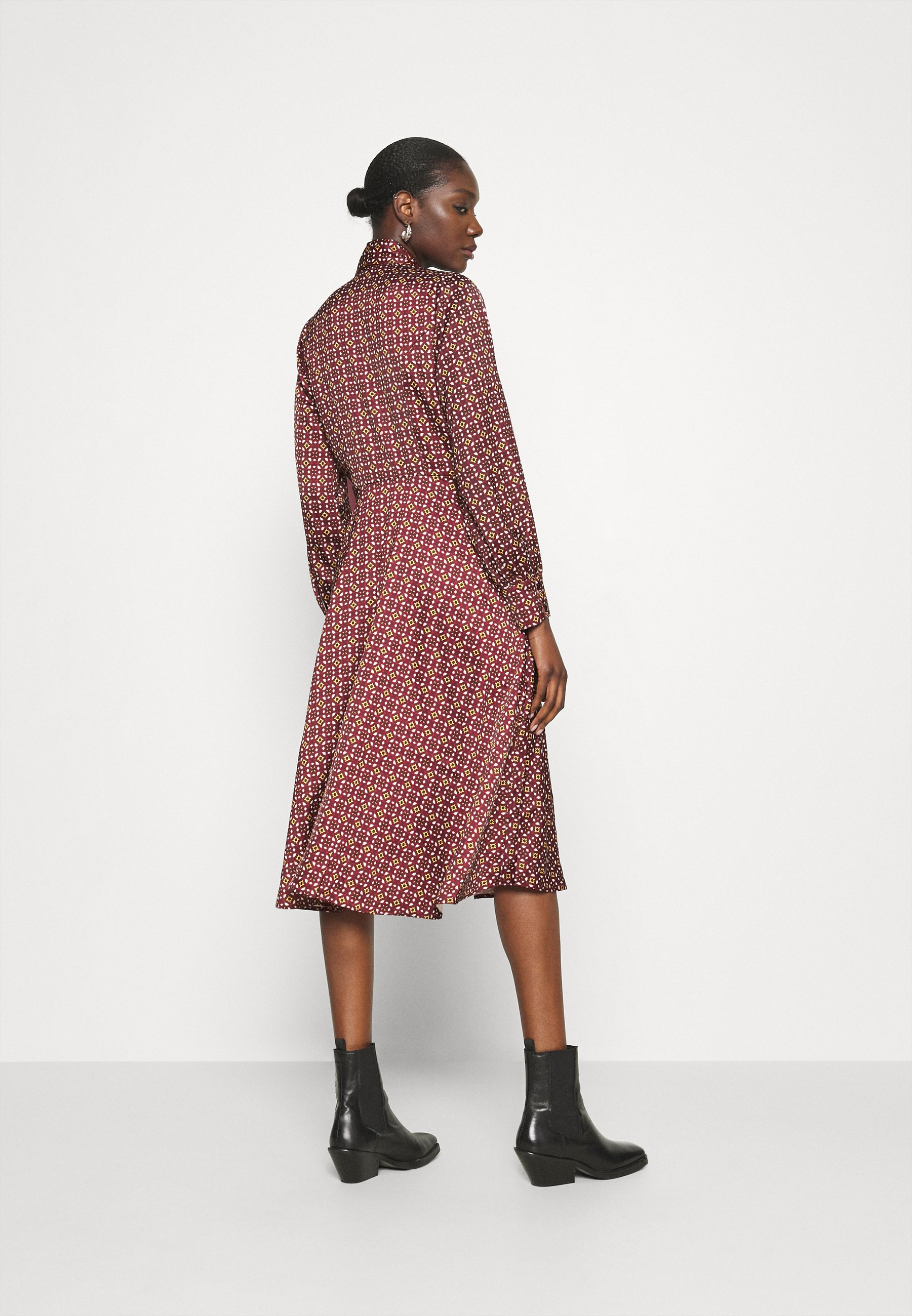 Who What Wear BOW DRESS Blusenkleid maroon/braun