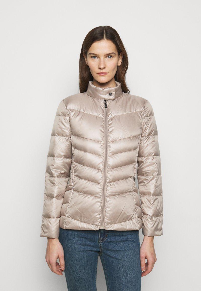 Lauren Ralph Lauren - PEARL SHEEN RACER MOTO SOFT - Down jacket - luxe