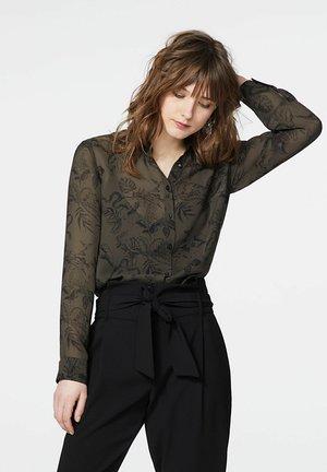 Button-down blouse - kaki