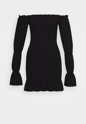 PAMELA REIF X NA-KD PUFFY SLEEVE SMOCKED DRESS - Day dress - black