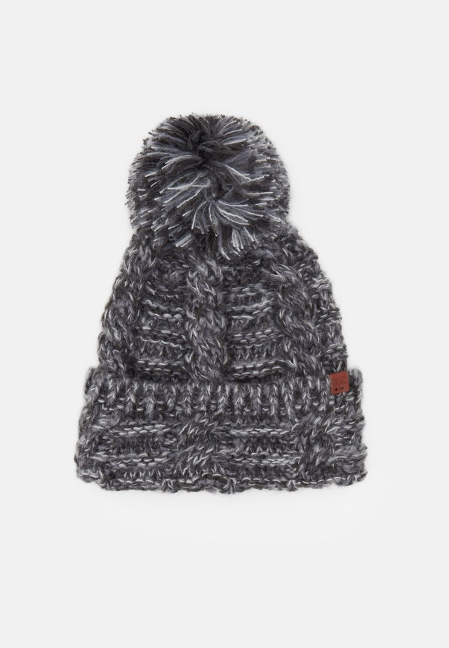 BEANIE - Lue - dark grey twist