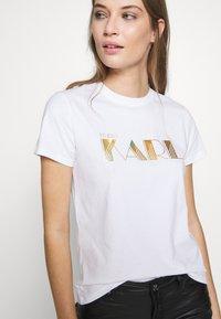 KARL LAGERFELD - LOGO - T-shirts med print - white - 3