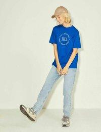JJXX - T-shirt z nadrukiem - mottled dark blue - 1