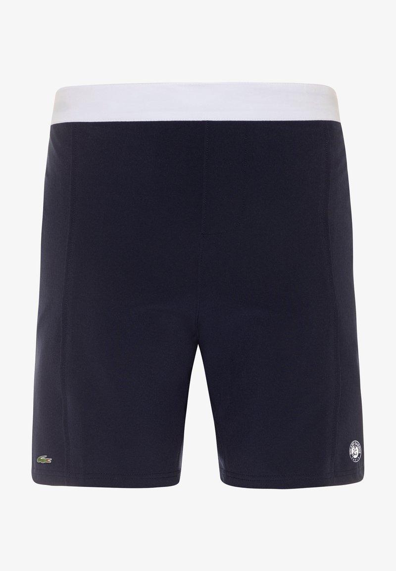 Lacoste Sport - TENNIS SHORT ROLAND GARROS - Sportovní kraťasy - navy blue/white