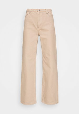 YOKO - Jeansy Straight Leg - beige medium dusty