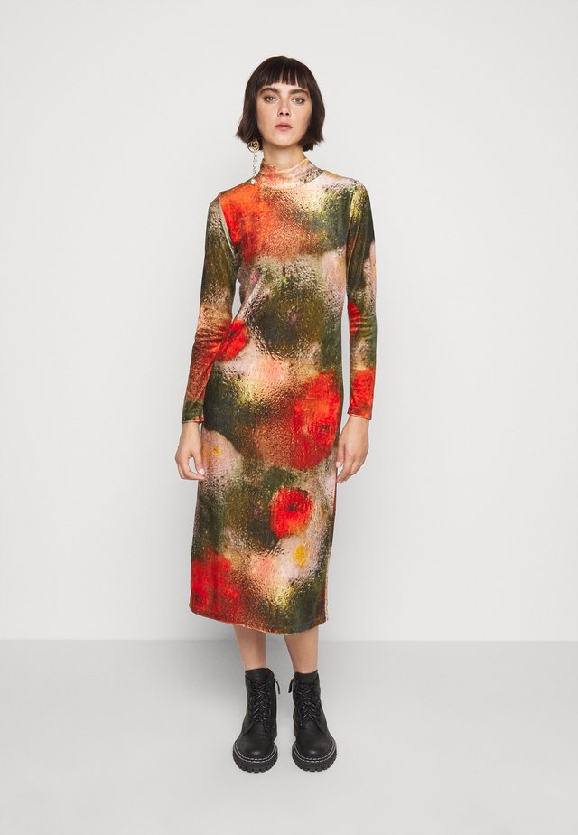 POLLEN DRESS WET FLOWERS - Vestito di maglina - multi-coloured