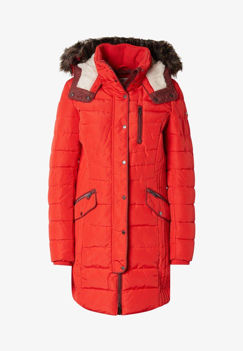 TOM TAILOR - MIT KAPUZE - Winter coat - red