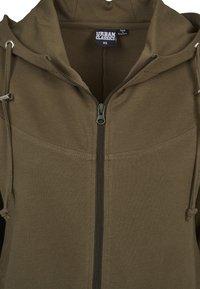 Urban Classics - LADIES TERRY  - Zip-up hoodie - olive - 1