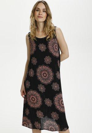 BPVILLA - Day dress - black / old rose flower