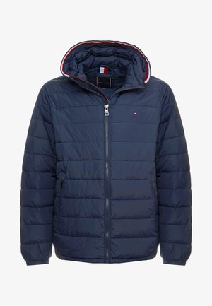 QUILTED HOODED JACKET - Light jacket - blue