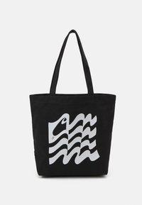 Carhartt WIP - WAVY STATE TOTE UNISEX - Tote bag - black/white - 0