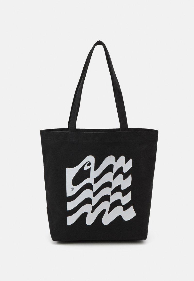 Carhartt WIP - WAVY STATE TOTE UNISEX - Tote bag - black/white