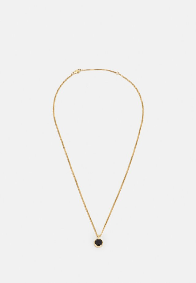 ETTE NECKLACE - Ketting - black/gold-coloured