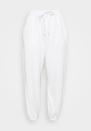 PLUS SIZE JOGGERS - Tracksuit bottoms - white