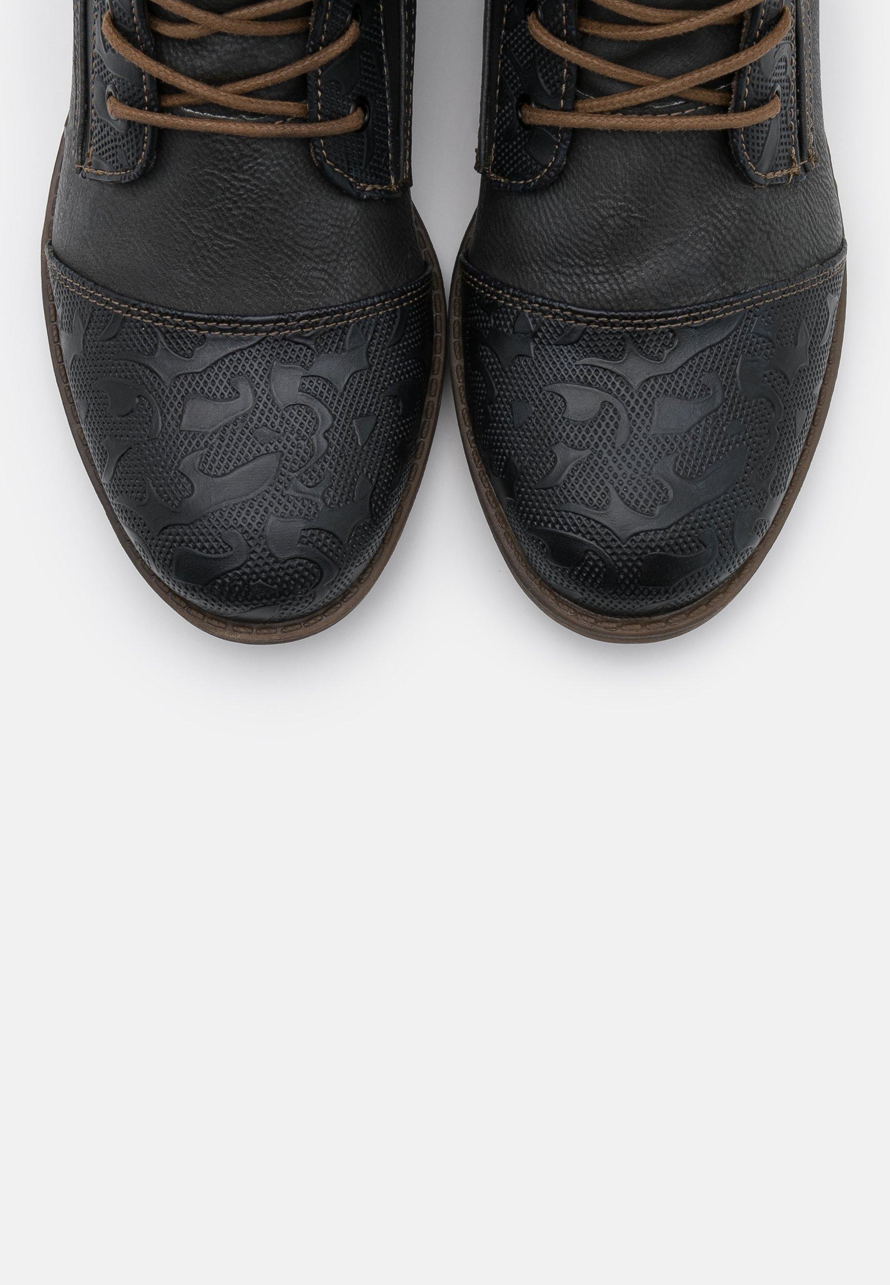 mustang bottines à lacets couleur graphit homme