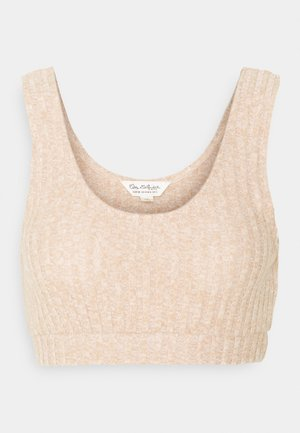CARAMEL CROP  - Top - camel