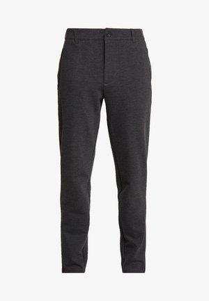 Kalhoty - dark grey melange