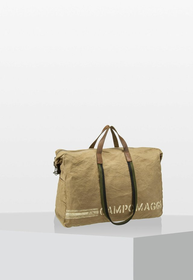 Weekend bag - beige/verde militare/stampa bi
