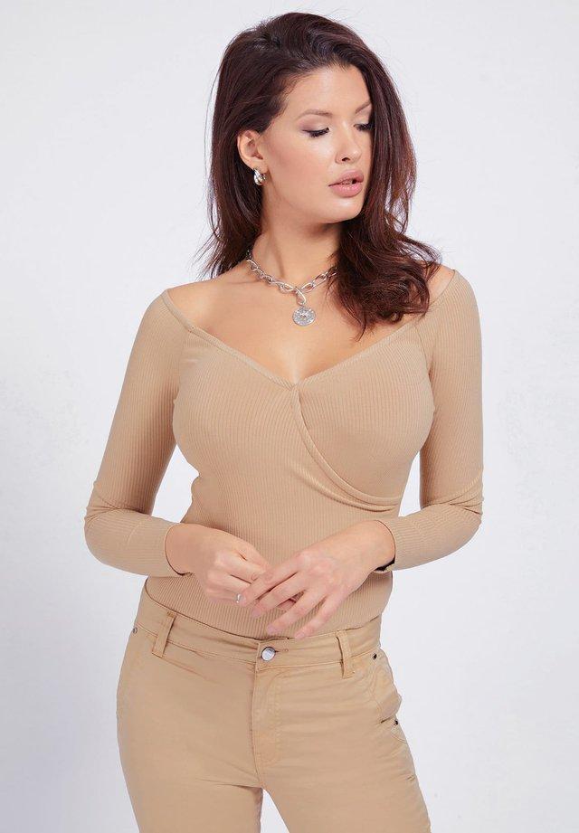 SONAY - Maglietta a manica lunga - beige