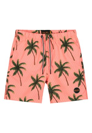 PAINTED PALMS - Badeshorts - neon orange